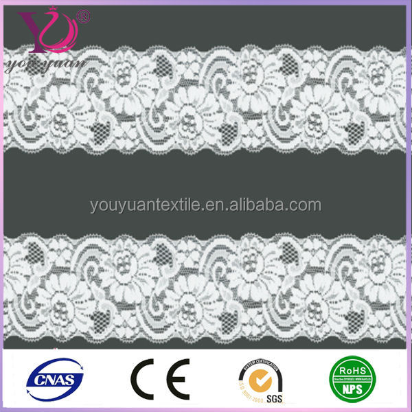 2014 new fashion elastic knitted lace for underwear