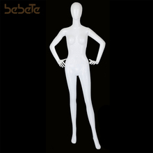 Wholesale Full Body Abstract Face Fashion Plastic Female White Mannequin Doll Real