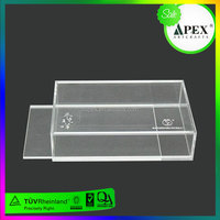 Wholesale black acrylic display case with lock and key,customized E-cigarette display case