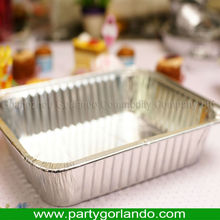 airline fast food disposable aluminum foil takeaway containers