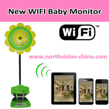 Remote control baby monitor, Support Ipad, iphone, Android phone, Build in microphone, New products