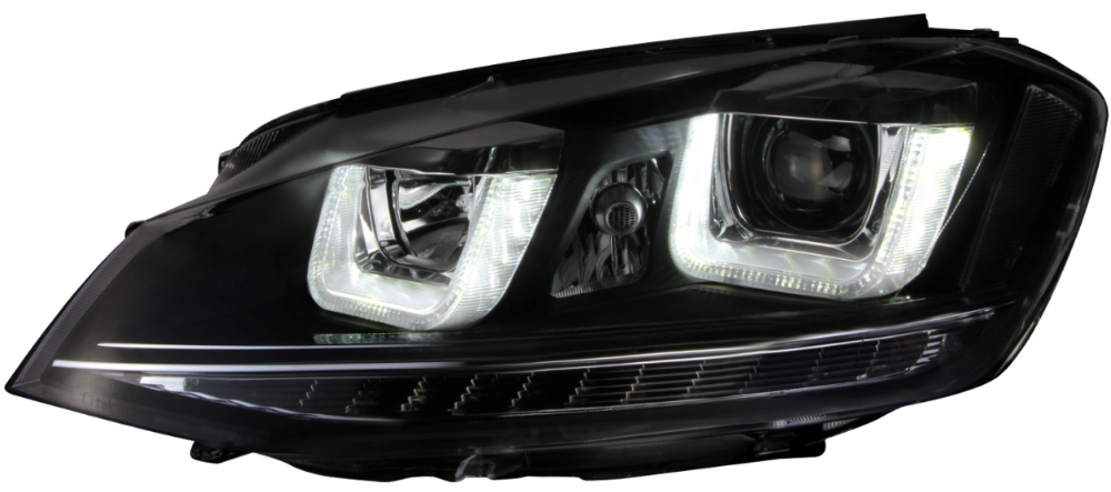 Factory supply powerful 6000 lumen led headlamp for Volkswagen Golf 7 2014 headlight
