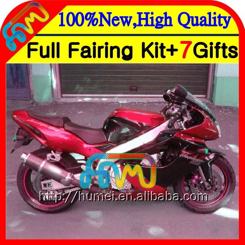 Fairings For YAMAHA YZF 1000R Thunderace Hot sale red 02 03 04 05 06 07 2HM-96 YZF-1000R YZF1000R 2002 2003 2004 2005 2006 2007