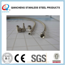3/16 inch stainless steel wire braided teflon tube with high temperature