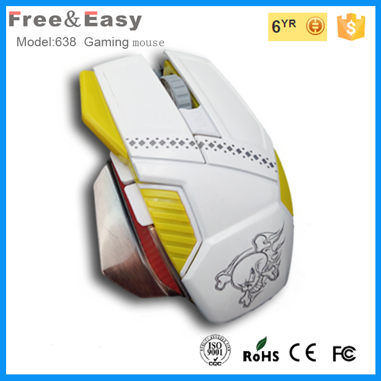 Newest gaming mouse with 7 color breath led light