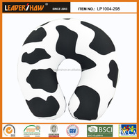Cow stripe pattern printed micro beads Travel neck pillow