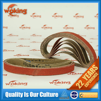Ceramic abrasive belt for metal