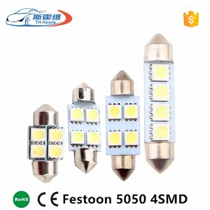 Car Led Festoon Interior Dome Light 3 SMD 5050 Chip 31 36 39 41mm C5W White Auto Reading Lamp 12 volt automotive led lights