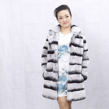 New Fashion and sexy women fur coat genuine chinchilla rex rabbit fur coat /fur jacket from china