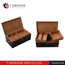 High quality wooden cigar box humidor packing box with drawer