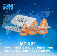 MY-S07 2015 hot sale breast enlargement with vibration/breast enlargement/breast enlarger vacuum pump