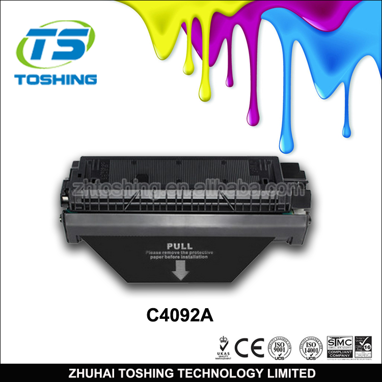 TOSHING Hiqh Quality C4092A 92A Compatible Toner Cartridge For HP LJ1100/1100A/3200