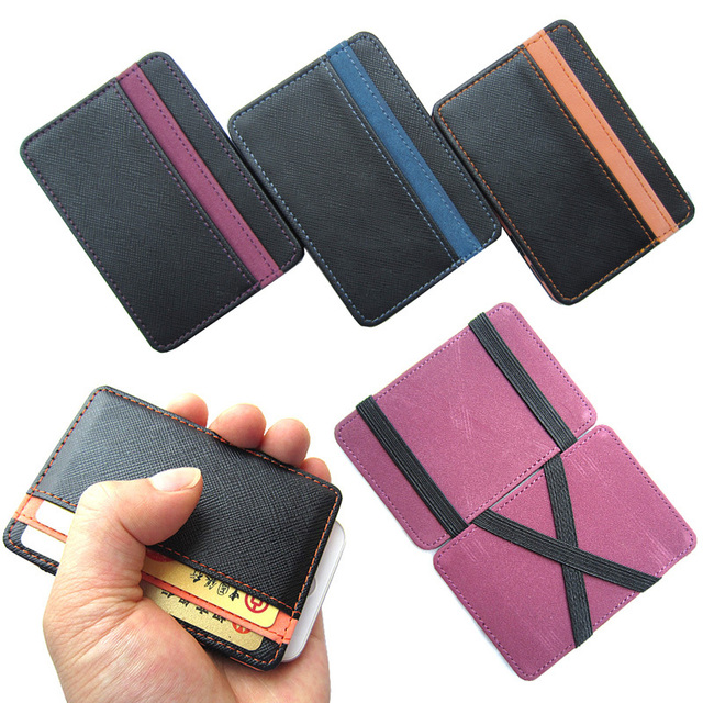 Hot selling High quality PU leather magic wallets  fashion designer men bank card holder retail and wholesale Model:FGS01