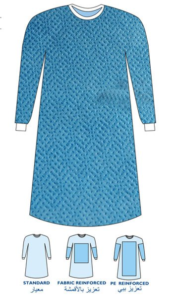 Disposable Spunlace Surgical Gown with Long Sleeves