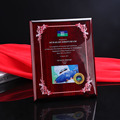 New design A4 crystal authorization card