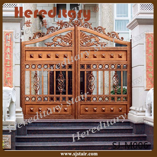 Foshan Manufacturer low price cast aluminum garden gates