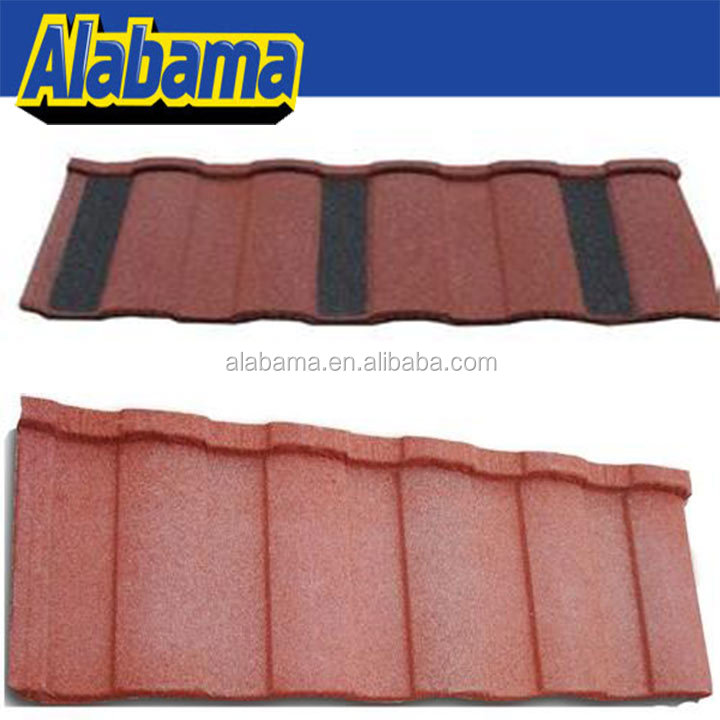soncap colorful stone coated metal roofing tile, metal roofing sheet design, roof tile new technology house