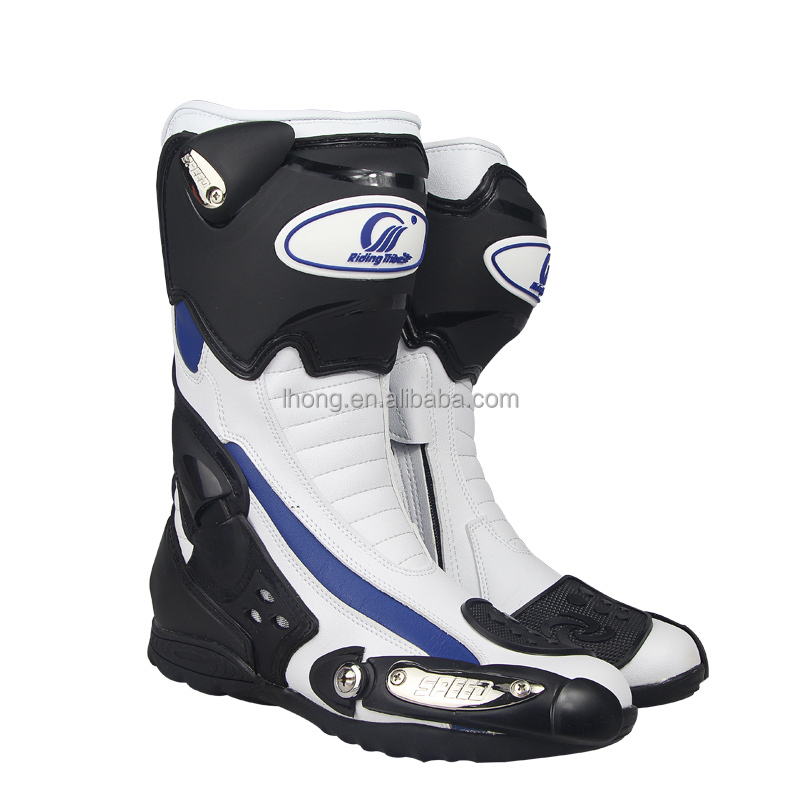 Black ,Red ,White Leather Motocross Riding Boot B1002