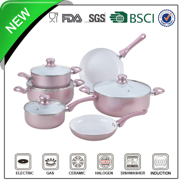 10pcs China Factory Marble Fashionable pattern Look cookware