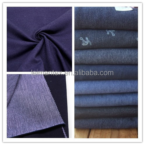 Latest promotion price cotton polyester blended knit fabric denim jeans