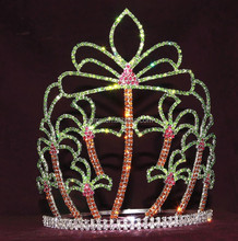 summer coconut palm tiara custom rhinestone crown