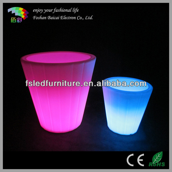 Colorful Flashing LED Flower Planter