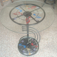 Continental hotel side note, round wrought iron coffee table,, table, creative small tea table 500*500*700mm
