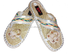 GCE689 2015 Summer hot wedding traditional indian shoes for women with arabic sandals