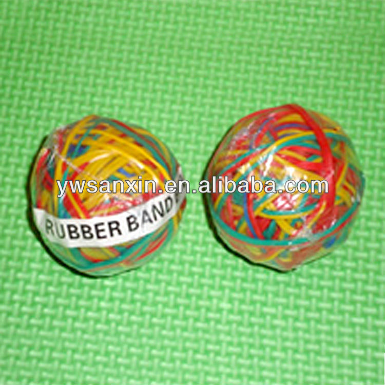 Anti-aging Colored Natural Rubber Band Ball