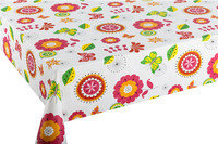 Household Colorful Printing Plastic PVC Table Cloth Waterproof Non-woven Dining Table Cover