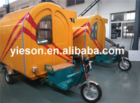 New Design three wheels electric tricycle mobile restaurant hot food transport cart YS-ET175C