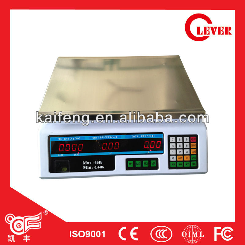 15kg/5g Electronic portable scale ACS-B/C own board Phoenix scales with OIML,CE From Kaifeng