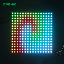 programmable flexible ws2812b led matrix display - 16x16 led pixels