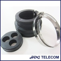 EPDM boot assembly kits for coax cable with three holes