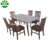 solid modern wooden table and 4 chairs dining furniture set
