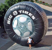 large inflatable advertising tire, inflatable tyre replicas for sale