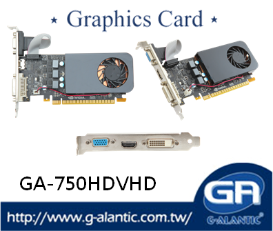 GA-750HDVHD - Support superior 4K Technology nvidia video card 2GB with sustained power