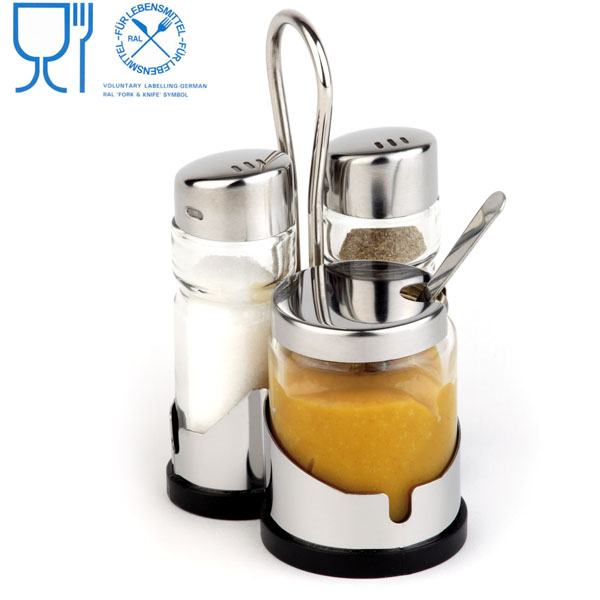 LFGB Approve color box packing functional cruet sets small stainless steel kitchen utensils
