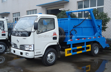 Dongfeng small 3cbm Swing Arm garbage Truck
