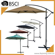 promotion 3M offset hanging umbrella 10 feet cantilevered parasol 300cm patio hanging umbrella
