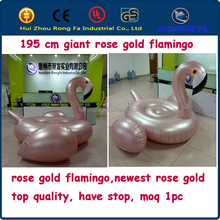 2017 newest EN71 SGS giant inflatable pool float rose gold flamingo