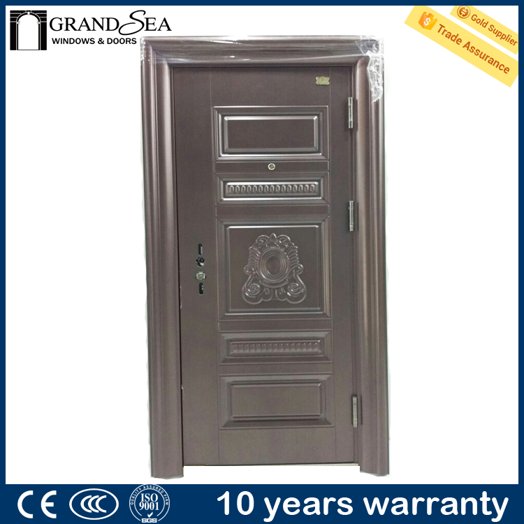 China exterior steel door low prices American steel door entrance steel door main gate design