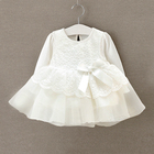 wholesale spring autumn princess lace cotton 0-3 months infant toddler newborn baby girl clothes dresses