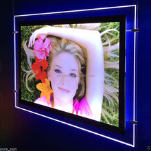 Double Sided Magnetic Shadow Box Frames Wholesale LED Slim Light Board panel lightbox