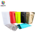 Full Color Printing Resealable Stand Up Flat Bottom Aluminum Foil Ziplock Food Packaging Bag