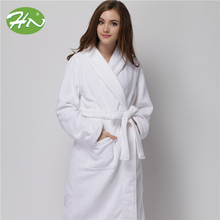 Wholesale Hotel White Egypt Cotton Velvet And Terry Bathrobe