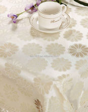 wholesale 100% Flax / Linen printed tablecloth set