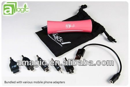 2013 Newest 2600mAh Portable Mini USB External Mobile Power Bank Emergency Rechargable Battery Case for Smartphones