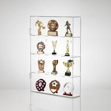 Wall Mounting Premium Perspex Acrylic Medal Display Cabinet Award Shelving Unit Acrylic Trophy Display Case