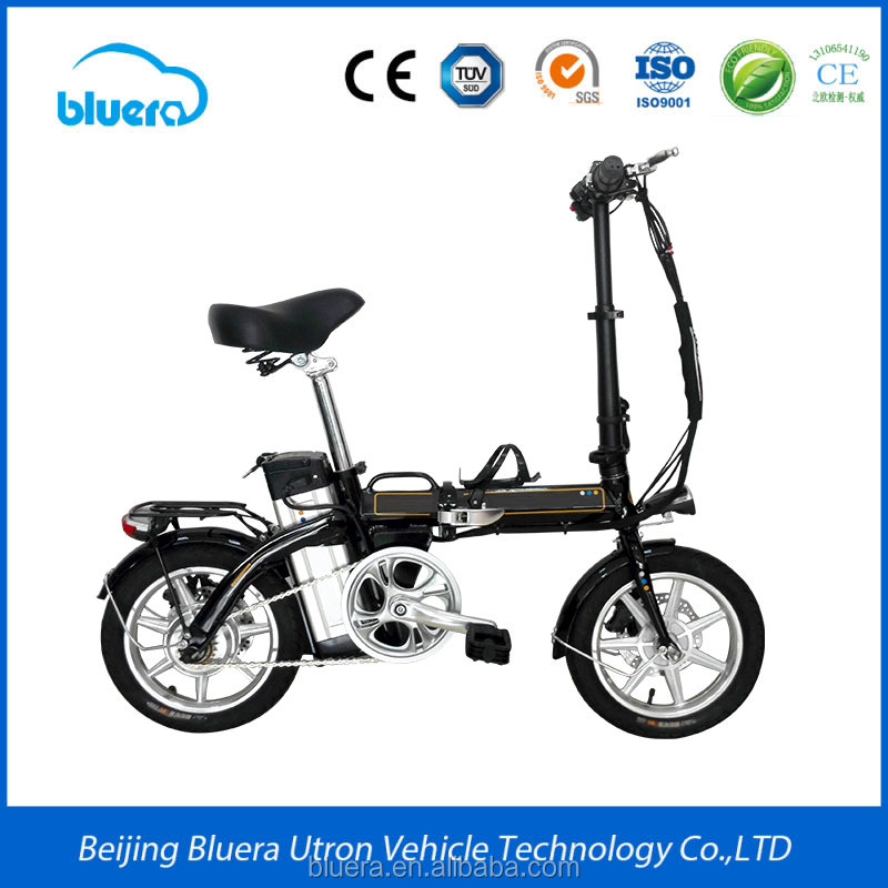 New cheap mini lithium battery 48V 20AH folding electric moped bike range 60-80km